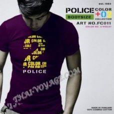 Мужская футболка Police Art No.FC011 Color Collection - TV001337