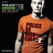 Shirt Police Art No.FC010 Color Collection - TV001338