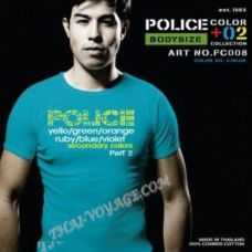 Мужская футболка Police Art No.FC008 Color Collection - TV001340