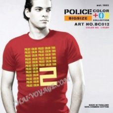 Мужская футболка Police Art No. BC012 Color Collection - TV001341
