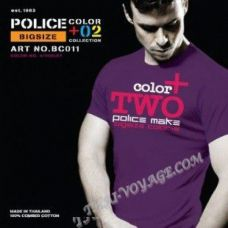 Männer T-Shirt Police Art-Nr BC011 Color Collection - TV001342