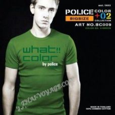 Männer T-Shirt Police Art-Nr BC009 Color Collection - TV001344
