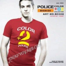 Männer T-Shirt Police Art-Nr BC008 Color Collection - TV001345