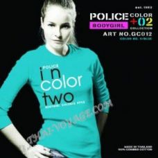 Женская футболка Police Art No. GC012 Color Collection - TV001346