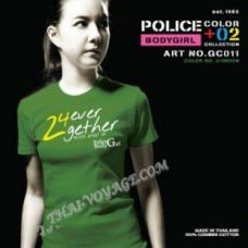 Женская футболка Police Art No. GC011 Color Collection - TV001347