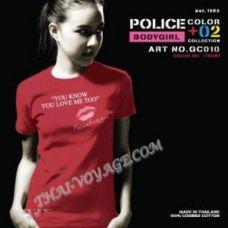 Женская футболка Police Art No. GC010 Color Collection - TV001348