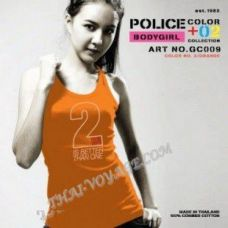 T-Shirt Police Art-Nr Frauen GC009 Color Collection - TV001349