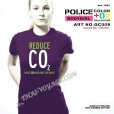 T-Shirt Police Art-Nr Frauen GC008 Color Collection - TV001350
