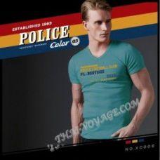 Мужская футболка Police Art No.XC006 Color Collection - TV001364
