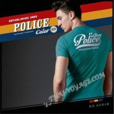 Мужская футболка Police Art No.BC018 Color Collection - TV001370