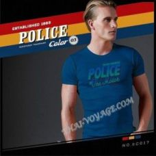 Мужская футболка Police Art No.BC017 Color Collection - TV001371