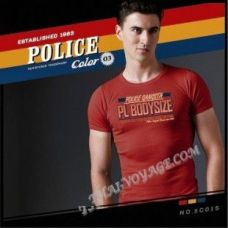 Мужская футболка Police Art No.BC015 Color Collection - TV001373