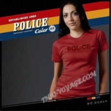 Женская футболка Police Art No.GC014 Color Collection - TV001384
