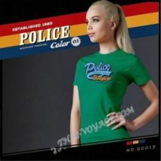 Женская футболка Police  Art No.GC013 Color Collection - TV001385
