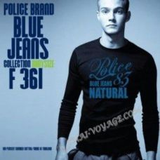 Shirt Police Art No. F361 Blue Jeans - TV001386