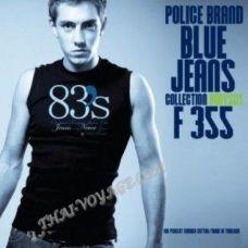 Мужская футболка Police Art No. F355 Blue Jeans - TV001392