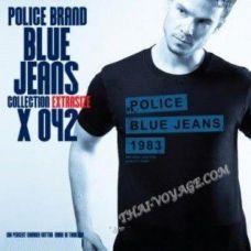 Мужская футболка Police Art No. X042 Blue Jeans - TV001396