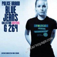 Women's T-shirt Police Art No. G264 Blue Jeans - TV001397