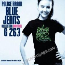 Women's T-shirt Police Art No. G263 Blue Jeans - TV001398
