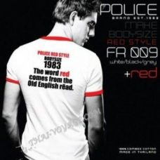 Мужская футболка Police Art No. FR009 Red Collection - TV001407