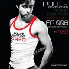 Men's T-shirt Police Art No. FR008 Red Collection - TV001408