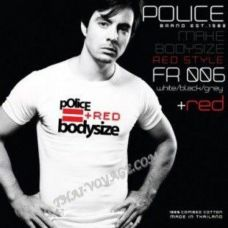 Мужская футболка Police Art No. FR006 Red Collection - TV001410