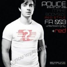 Мужская футболка Police Art No. FR003 Red Collection - TV001413