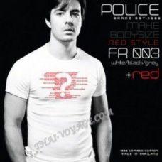 Männer T-Shirt Police Art-Nr FR003 Red Collection - TV001413