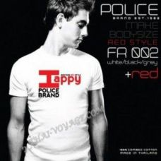 Мужская футболка Police Art No. FR002 Red Collection - TV001414