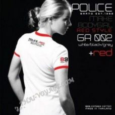 Women's T-shirt Police Art No. GR002 Red Collection - TV001416