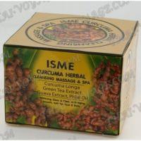 Травяной массажный крем-маска с куркумой и имбирем для лица и тела Isme - TV001490