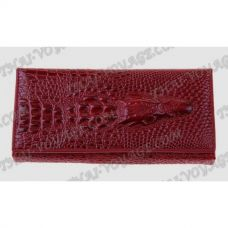 Purse female genuine leather with design «crocodile» - TV001597