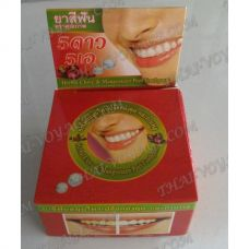 Thai round toothpaste «Mangosteen peel and clove» - TV001609