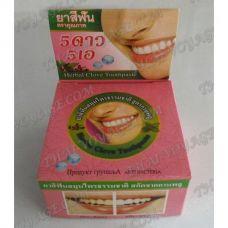 Тайская круглая зубная паста «Мята и гвоздика» - TV001613