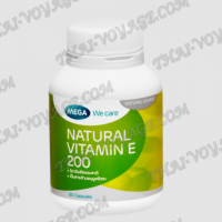 Natural vitamin E 200 capsules Mega We Care - TV001650