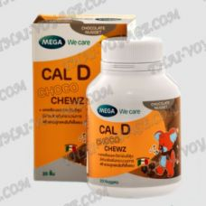 Chocolate Calcium and Vitamin D for children Cal D Mega We Care - TV001654