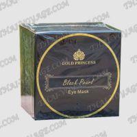 Des taches oculaires de collagène avec la princesse d'or perlé noir - TV001983