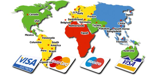 世界中の化粧品の配送