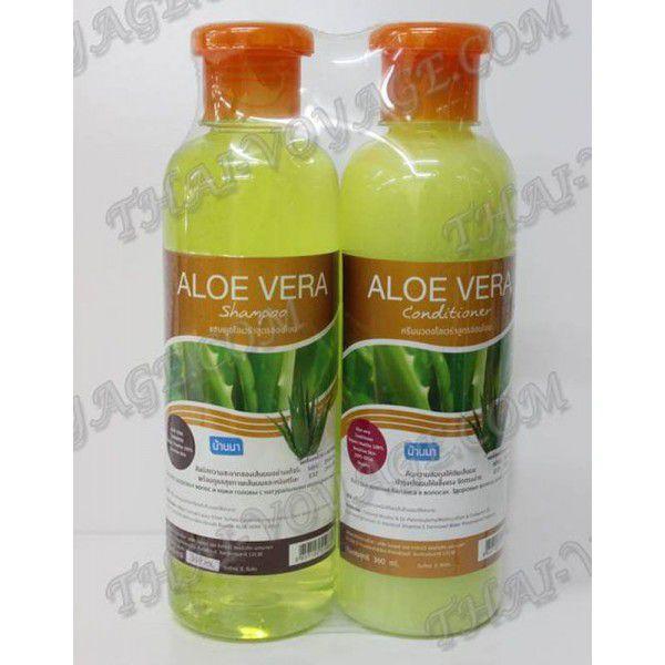shampoo und haarbalsam mit einem extrakt aus aloe vera. Black Bedroom Furniture Sets. Home Design Ideas
